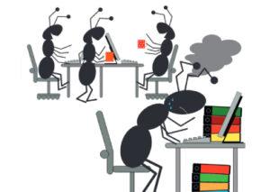 Arbeitsschutz-Comics mit Ameisen