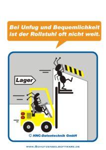 Arbeitsschutz-Comics mit Ameisen_HNC-Datentechnik_2009_11_Motiv Stapler