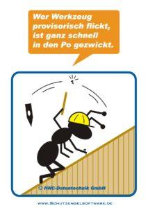 Arbeitsschutz-Comics mit Ameisen_HNC-Datentechnik_2009_11_Motiv Werkzeug