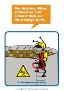 Arbeitsschutz-Comics mit Ameisen_HNC-Datentechnik_2010_02_Motiv PSA