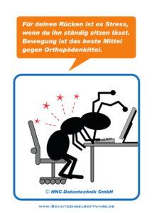Arbeitsschutz-Comics mit Ameisen_HNC-Datentechnik_2011_03_Motiv Bildschirmarbeit