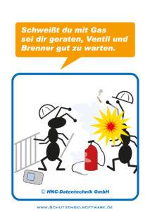 Arbeitsschutz-Comics mit Ameisen_HNC-Datentechnik_2011_03_Motiv Gasschweißen