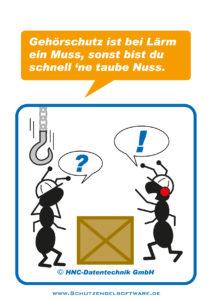 Arbeitsschutz-Comics mit Ameisen_HNC-Datentechnik_2011_03_Motiv Lärm