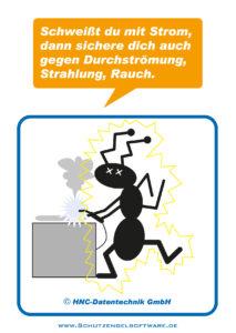 Arbeitsschutz-Comics mit Ameisen_HNC-Datentechnik_2011_03_Motiv Lichtbogenschweißen