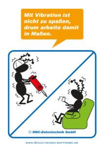 Arbeitsschutz-Comics mit Ameisen_HNC-Datentechnik_2011_03_Motiv Vibration