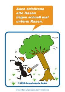 Arbeitsschutz-Comics mit Ameisen_HNC-Datentechnik_2011_09_Motiv Baum