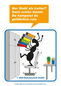 Arbeitsschutz-Comics mit Ameisen_HNC-Datentechnik_2012_02_Motiv Büro
