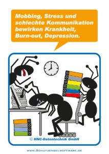 Arbeitsschutz-Comics mit Ameisen_HNC-Datentechnik_2012_02_Motiv psychische Belastungen