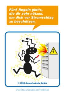 Arbeitsschutz-Comics mit Ameisen_HNC-Datentechnik_2012_03_Motiv 5 Sicherheitsregeln