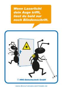 Arbeitsschutz-Comics mit Ameisen_HNC-Datentechnik_2012_03_Motiv Laser