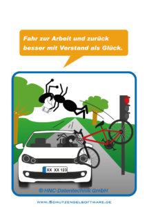Arbeitsschutz-Comics mit Ameisen_HNC-Datentechnik_2014_07_Motiv Arbeitsweg