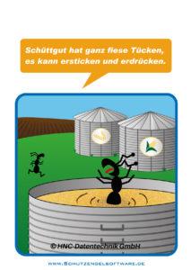 Arbeitsschutz-Comics mit Ameisen_HNC-Datentechnik_2014_07_Motiv Schüttgut