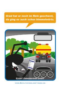 Arbeitsschutz-Comics mit Ameisen_HNC-Datentechnik_2014_07_Motiv Smartphone