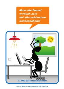 Arbeitsschutz-Comics mit Ameisen_HNC-Datentechnik_2017_04_Motiv Licht aus
