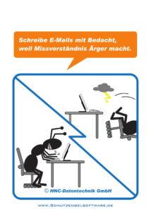 Arbeitsschutz-Comics mit Ameisen_HNC-Datentechnik_2017_07_Motiv Missverständnisse