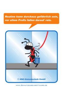 Arbeitsschutz-Comics mit Ameisen_HNC-Datentechnik_2017_09_Motiv Routine
