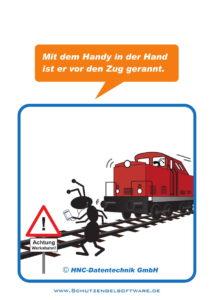 Arbeitsschutz-Comics mit Ameisen_HNC-Datentechnik_2017_09_Motiv Zug