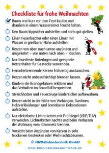 Arbeitsschutz-Ameisencomic | Checkliste für frohe Weihnachten