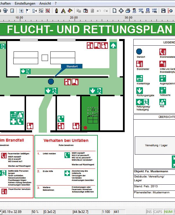 Fluchtplan plus Screenshot