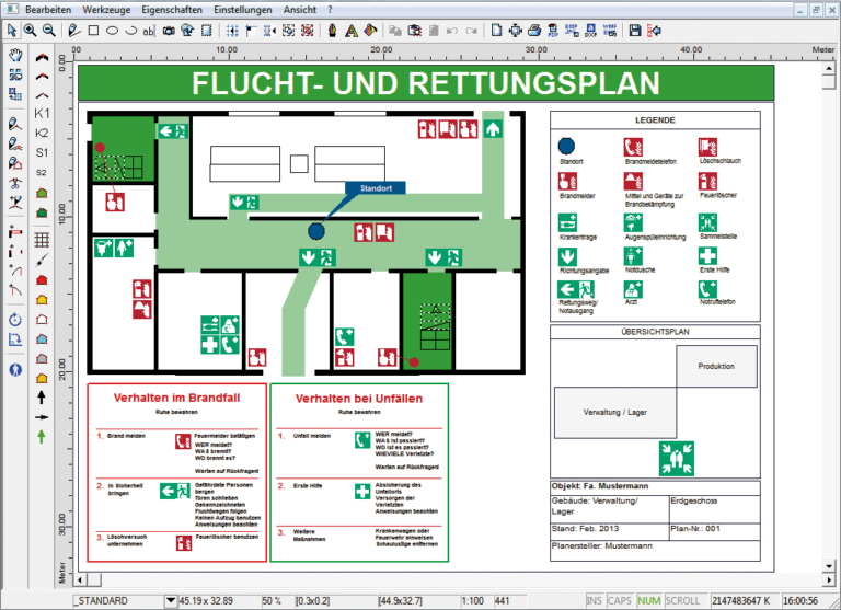 Fluchtplan plus Screenshot