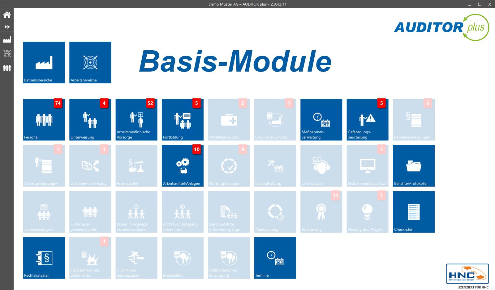 AUDITOR plus Basis-Module
