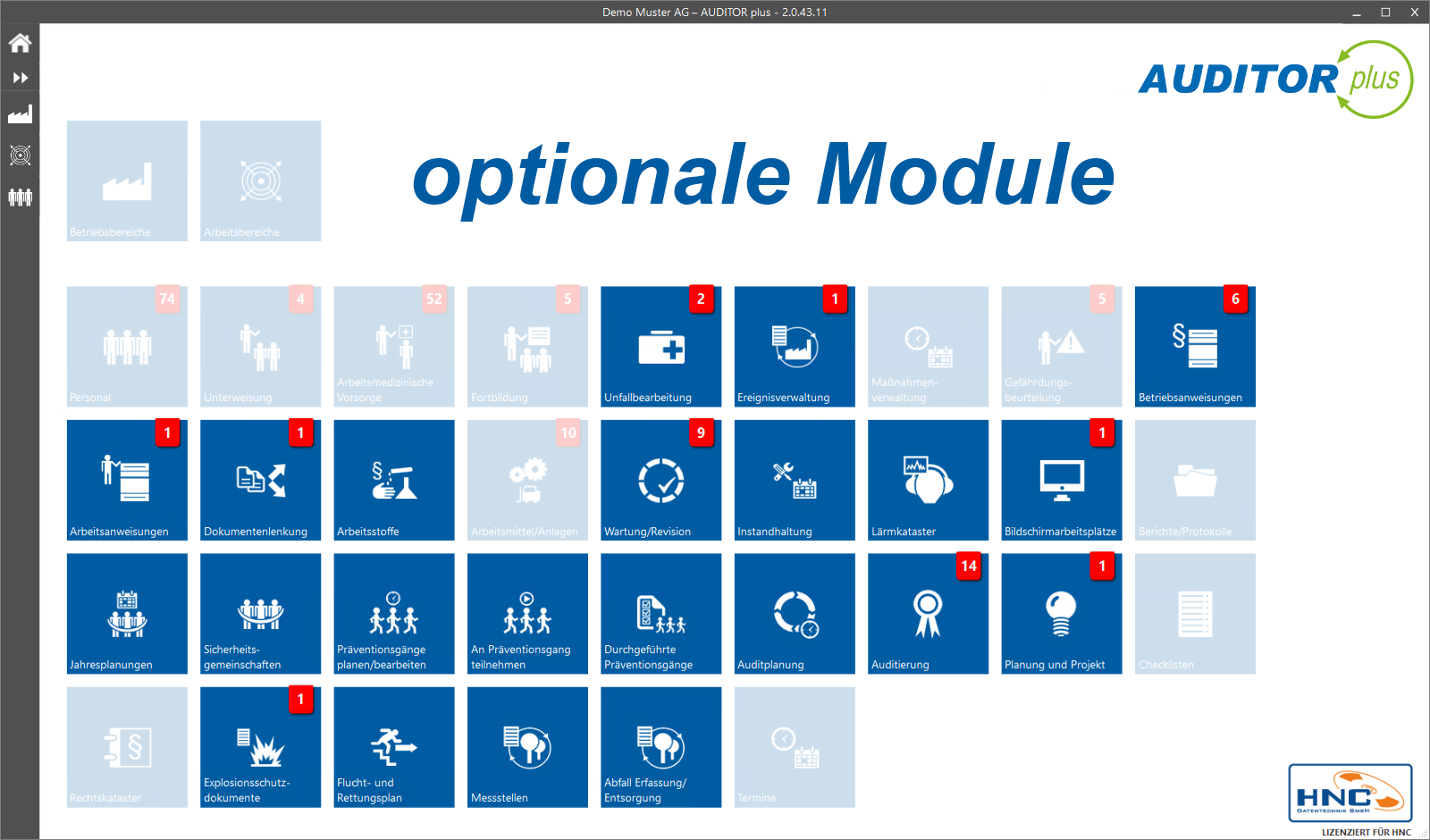 AUDITOR plus optionale Module