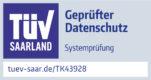 TK43928 Prüfzeichen HNC Datentechnik TÜV geprüfter Datenschutz 2020