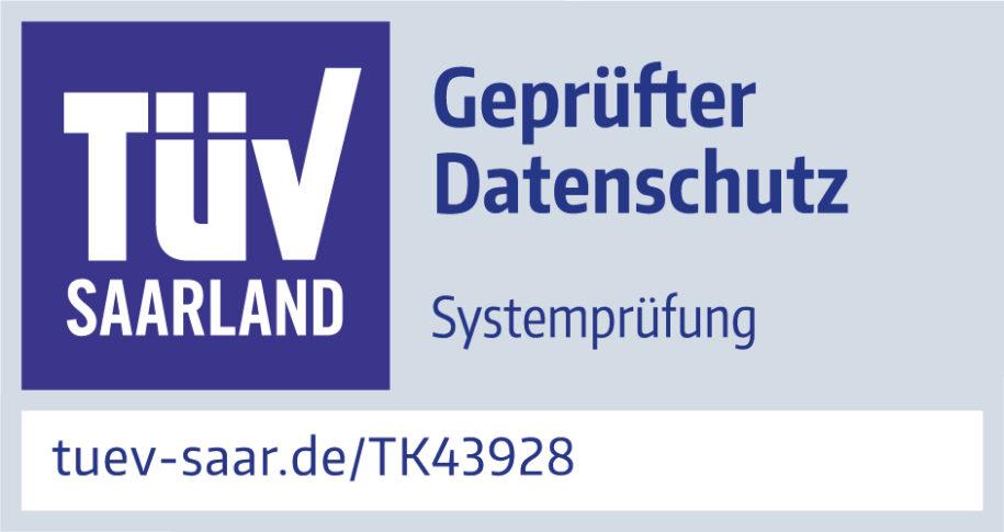Geprüfter Datenschutz durch den TÜV Saarland