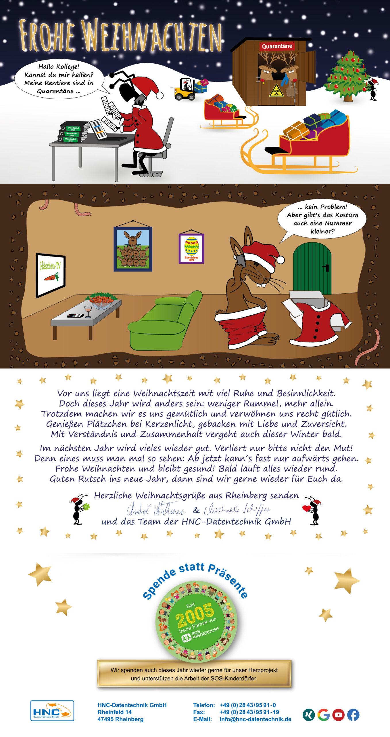 Herzliche Weihnachtsgrüße 2020 von HNC