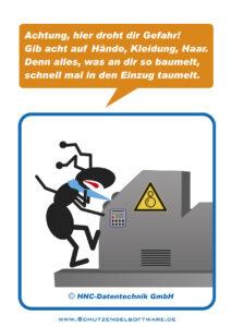 Arbeitsschutz-Comics mit Ameisen_HNC-Datentechnik Motiv Einzug