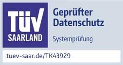 TK43929 Prüfzeichen HNC Datentechnik TÜV geprüfter Datenschutz 2021