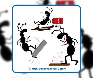 Ameisen-Comic Sicherheitsschuhe
