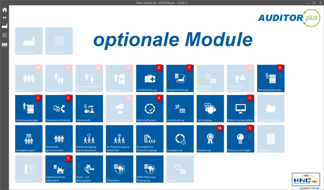 AUDITOR plus optionale Module